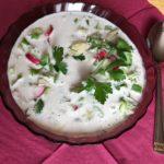 Тарелка с окрошкой